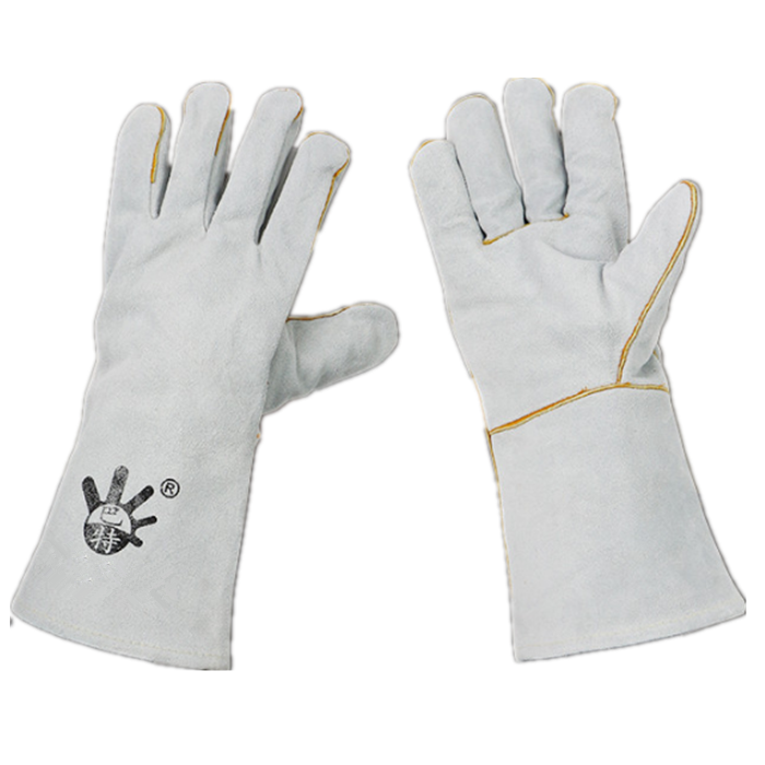 Full-palm welding gloves wear resistance, heat resistance, fire star protection and labor protection gloves