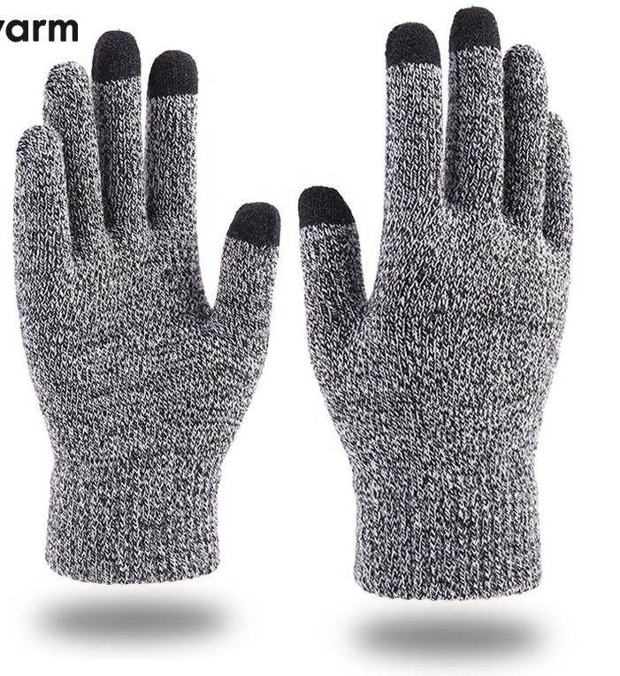 2019 Winter Magic Gloves Touch Screen Men Warm Stretch Knitted Wool Mittens Gloves