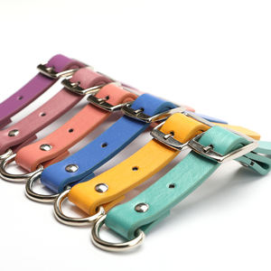Hot Selling Leather Dog Collar DIY High Quality Real Leather soft pet Collars