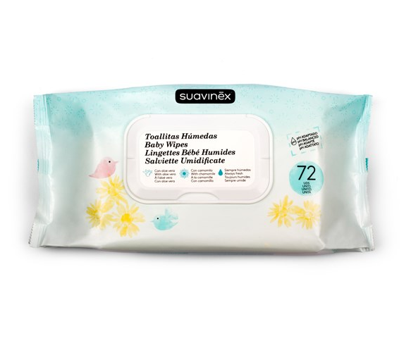 Spunlace antibacterial alcohol free baby wipes