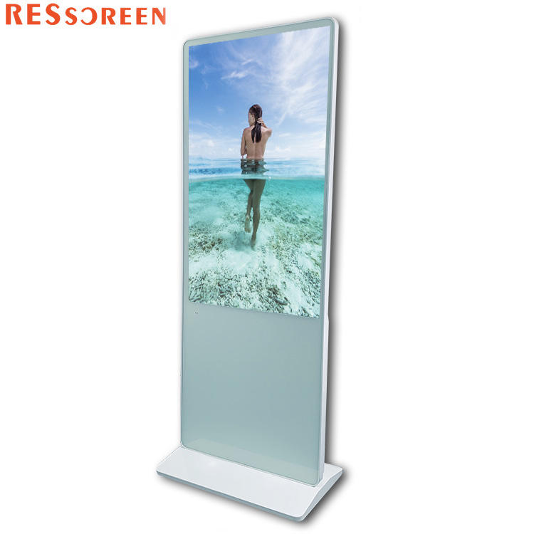 Best price 43 49 55 65 inch 4k android touch screen lcd digital signage totem advertising display