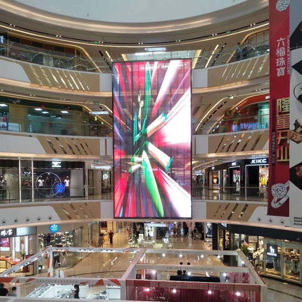 High refresh P3.9 indoor glass transparent LED display screen
