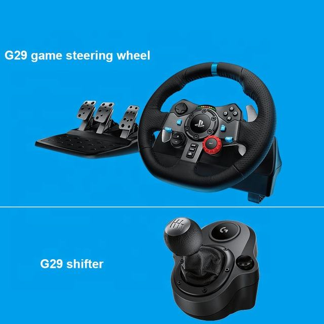Logitech G29 driving force Game steering wheel PC / PS4 racing car 900 degree driving force feedback handbrake gear lever