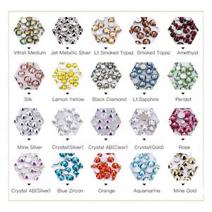 Hot Selling Wholesale Mixed Sizes 3D Nail Art Decoration Nail Crystal Rhinestone for Nail Art