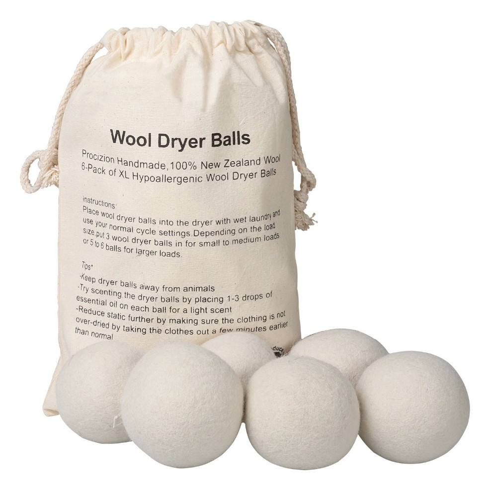 Best selling products 2020 in usa amazon natural reusable laundry wool dryer balls XL 6pack for washing machine