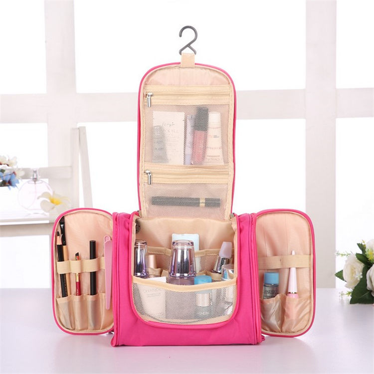 Travel Kit Organizer Bathroom Storage Cosmetic Packaging Bag Hanging Toiletry Bag