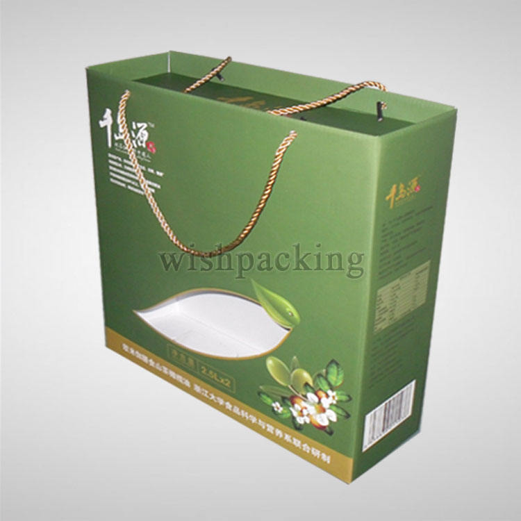 Food Paper flute box corrugated carton packaging box for Camellia oil