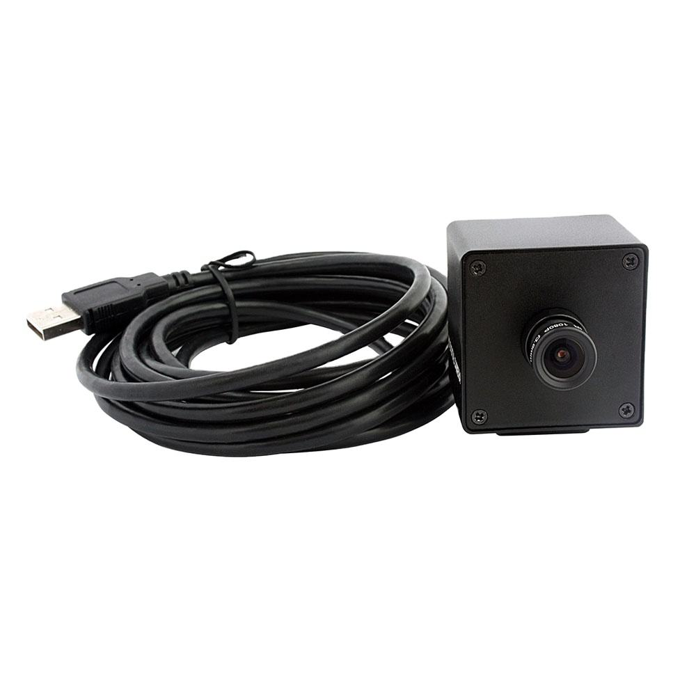 OEM ELP Sony sensor HD UVC driver livre mini micro 4 IMX317 k USB webcam com microfone para Windows, linux