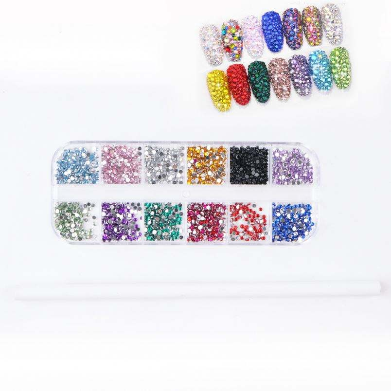 BOWS NAIL ART MIX 3000 RHINESTONE GEMS