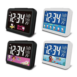 7002# customizable Color Led Display Electronic Digital Desk Clock Home Living Room Desktop student Clock
