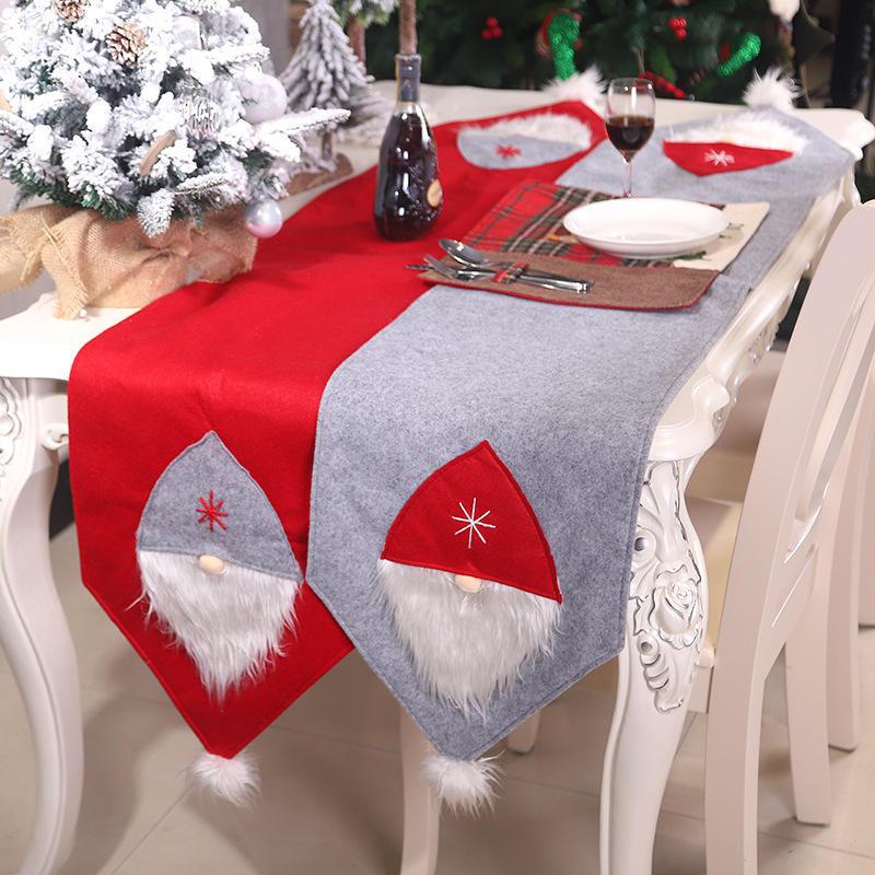 Bordado de Mesa Runner Navidad Fiesta navide/ña Casa Hotel decoraci/ón 40 x 170//15.75 x 66,93 Pulgadas Estilo Santa Claus Gosear Corredor de la Tabla