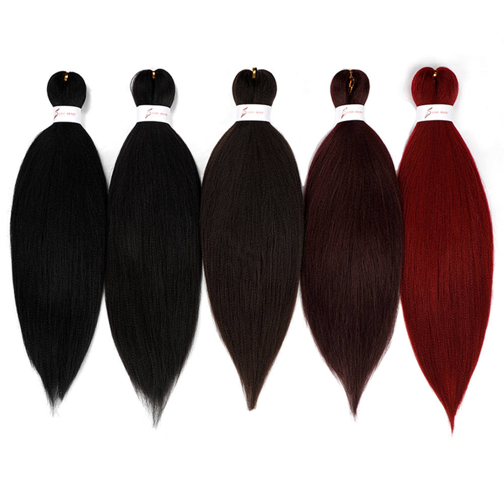 Synthetic Pre Stretched Braiding Hair 26Inch Yaki Braids Hair Jumbo Braid Manufacturers