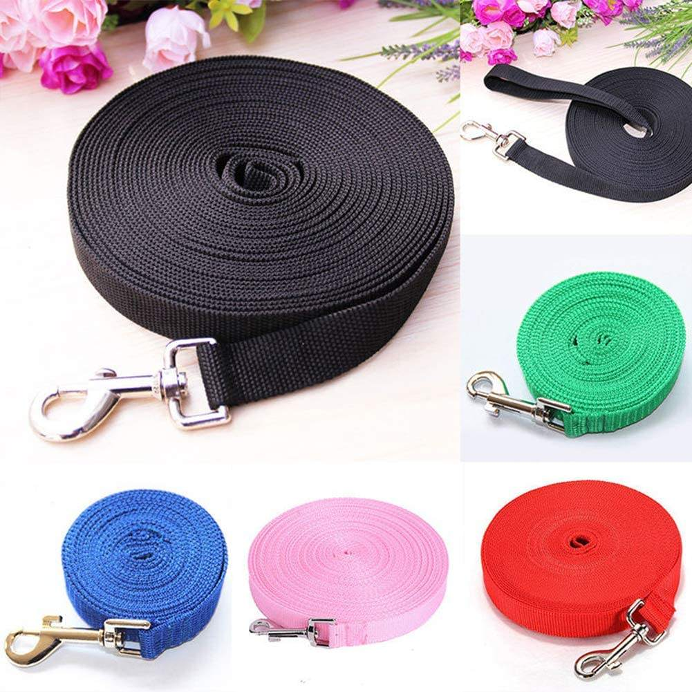 Pet Dog Leash Long Obedience Recall Foot Feet Training Lead 6/15/20/30/50/100ft Necklace Strap Pets Supplies Easy to Wear