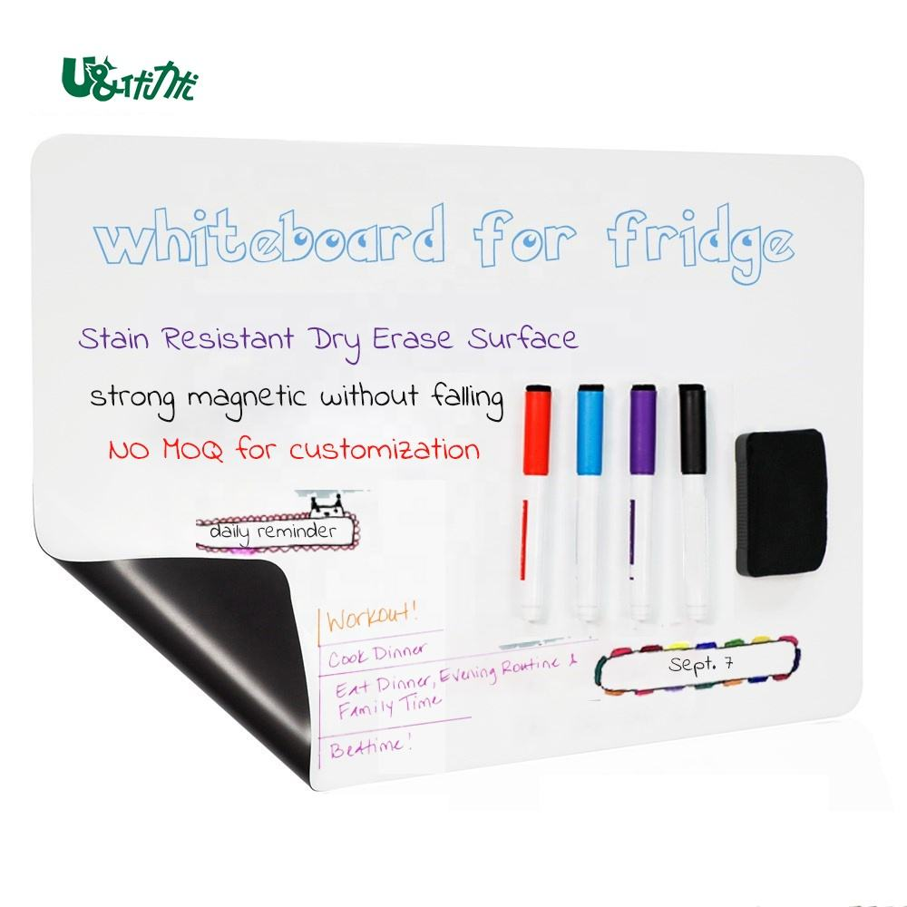 No MOQ Customization White Board Film Rolling Magnetic Dry Erase Fridge Whiteboard Magnetic Whiteboard For Fridge