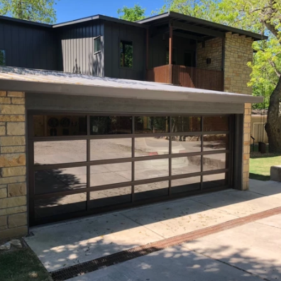 transparent price luxury glass panel modern glass automatic garage door
