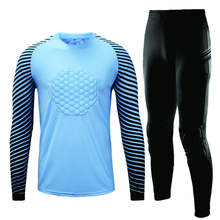Adult Soccer Goalkeeper Jersey Mens Goal Keeper Uniforms Long Sleeve Suits Custom Sublimated Goal Keeper