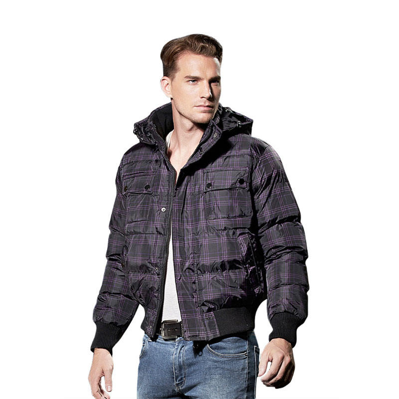 Mens textile work jacket bomber men snap on jacket