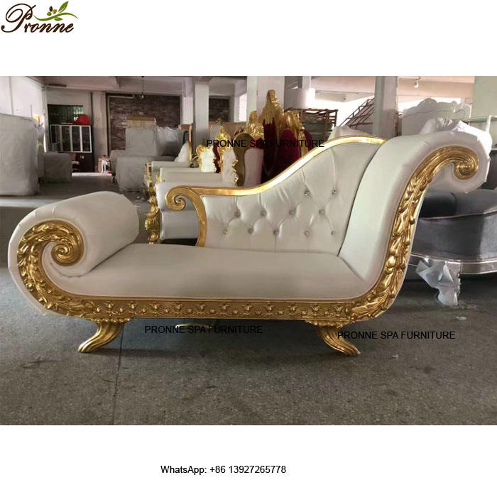 modern luxury white waiting area beauty salon reception sofa/waiting couch