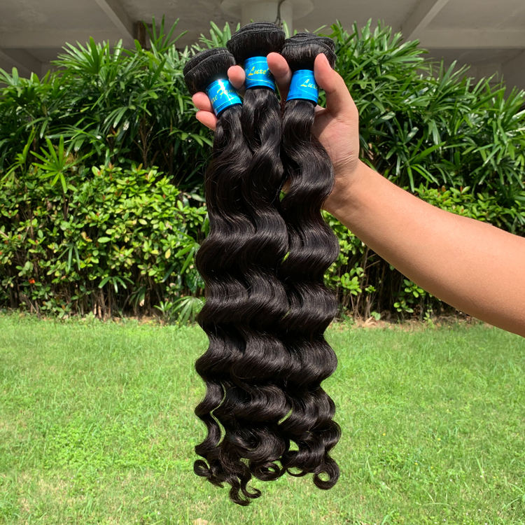 Free Shipping Loose Deep Wave Bundles Brazilian Hair Weave Bundles Natural Color 1/3/4 Bundles Remy Human Hair Extension