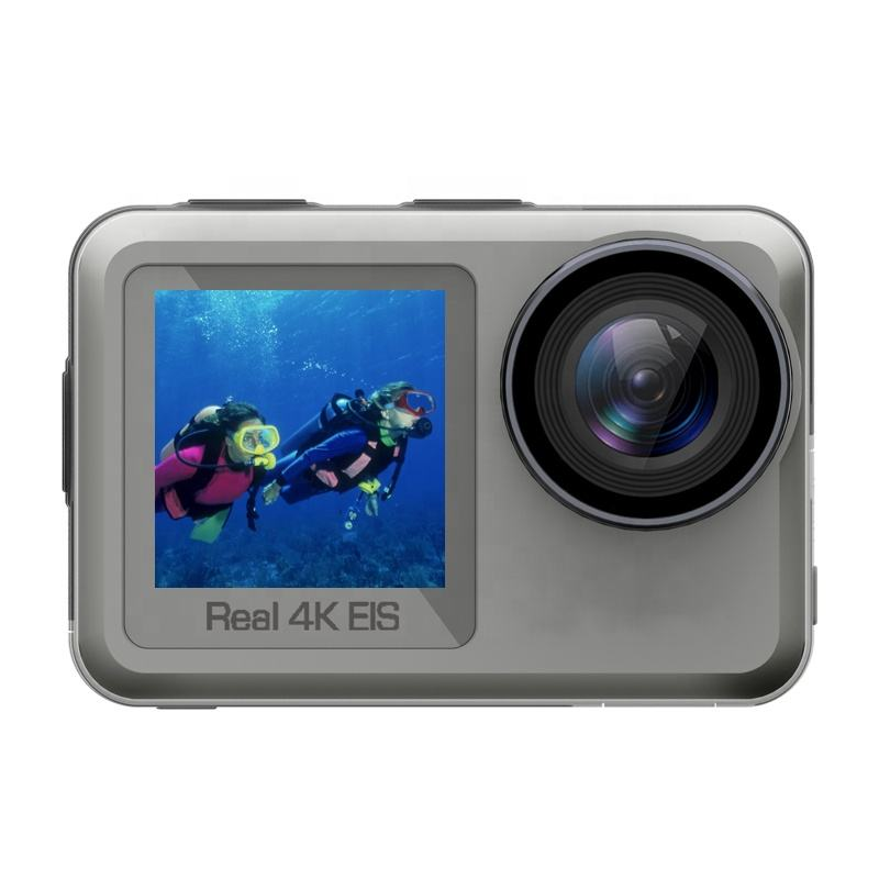 New arrival real 4k camera sport dual lens waterproof sports EIS wifi action camera