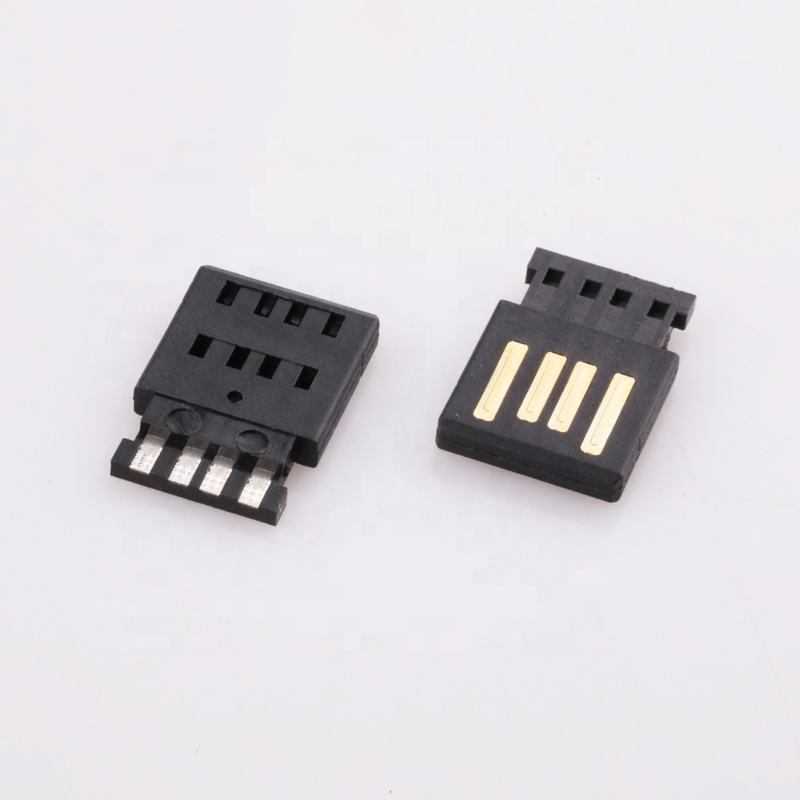 Factory OEMVertical pcb 4 pin male usb connector to ethernet