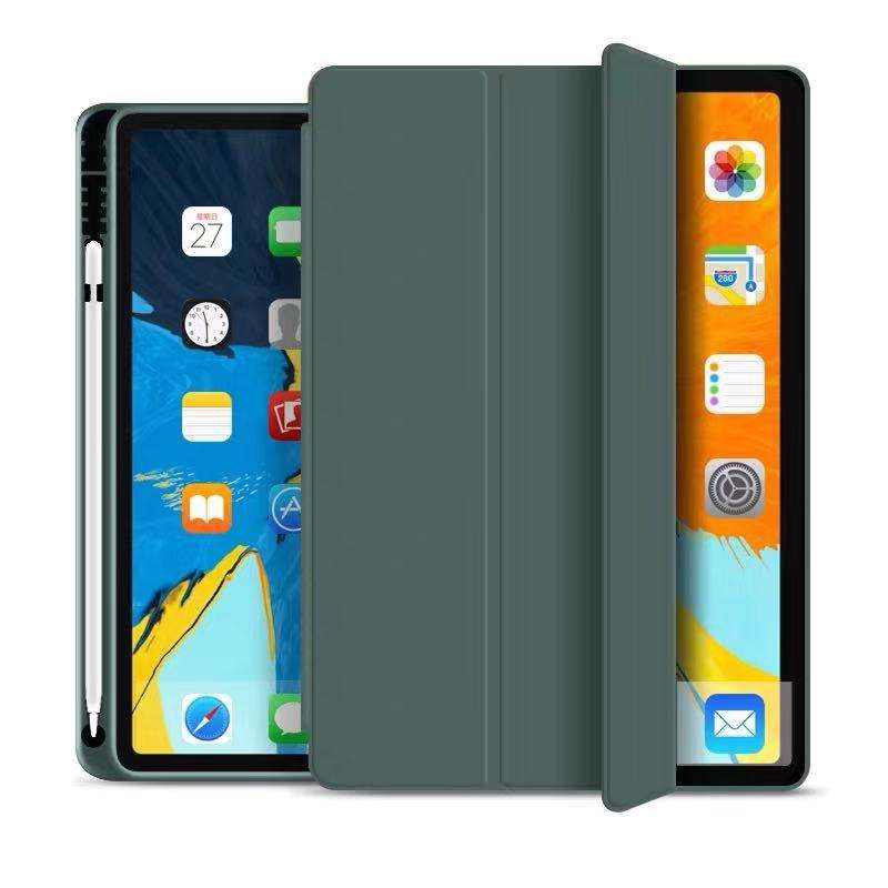 2020 Pencil Holder Shockproof Funda Case Tablet Silicone Case for iPad Pro 11 12.9 10.5 9.7 Air 4 10.9 8th iPad 5