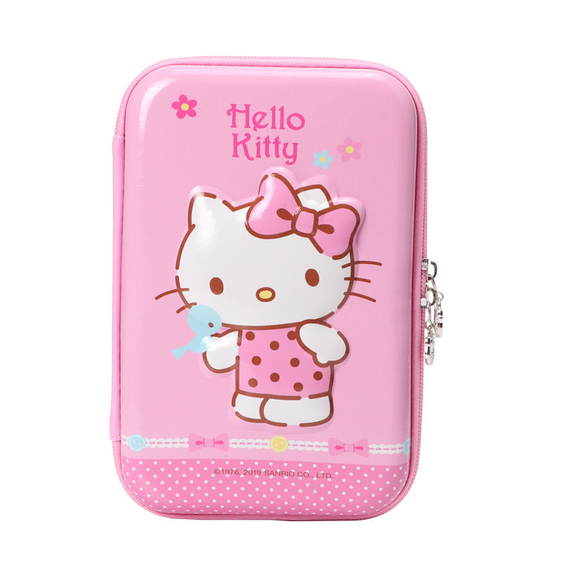 TOPSTHINK 3D Hello kitty EVA double zip large size odorless girl multi function toy pencil box