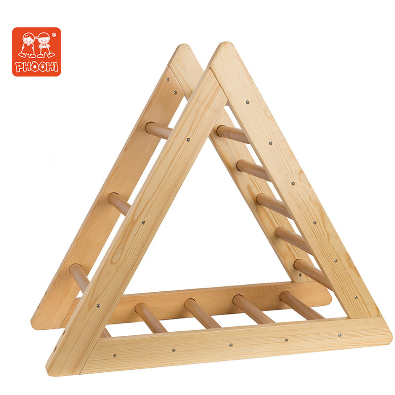 Pikler triangle indoor climb latter wooden toys for kids cube play climbing Ramp Slide