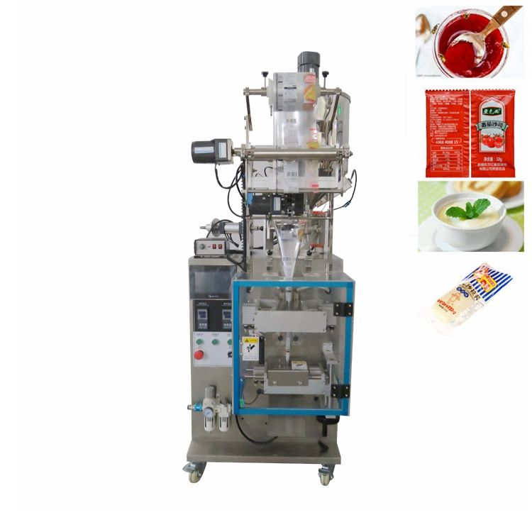 China Factory Automatic Small Vertical Tomato Past/Sauce/Yogurt/ Cooking Oil Liquid Packing Machine