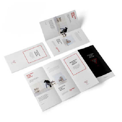 Full Color Brochure Custom Printing Service With Glossy Art Paper