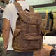 Guangzhou Backpack Supplier Waxed Canvas Roll Top Rucksack Backpack Bag For College Boy