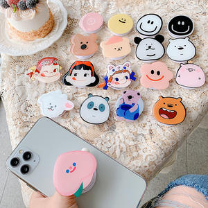 High quality Cute cartoon Popping Up acrylic Phone Holder