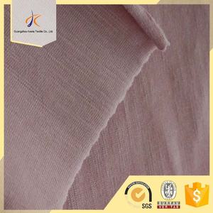 High quality plain dyed cotton spandex blend soft knit fabric wholesale