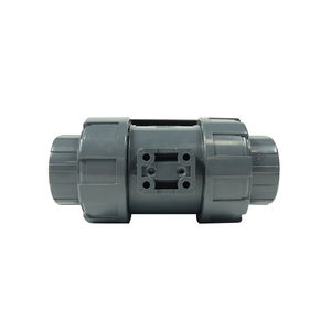 DKV high efficiency 220V 1 inch abs upvc water plastic double union thread 1 one way actuator electric ball valve