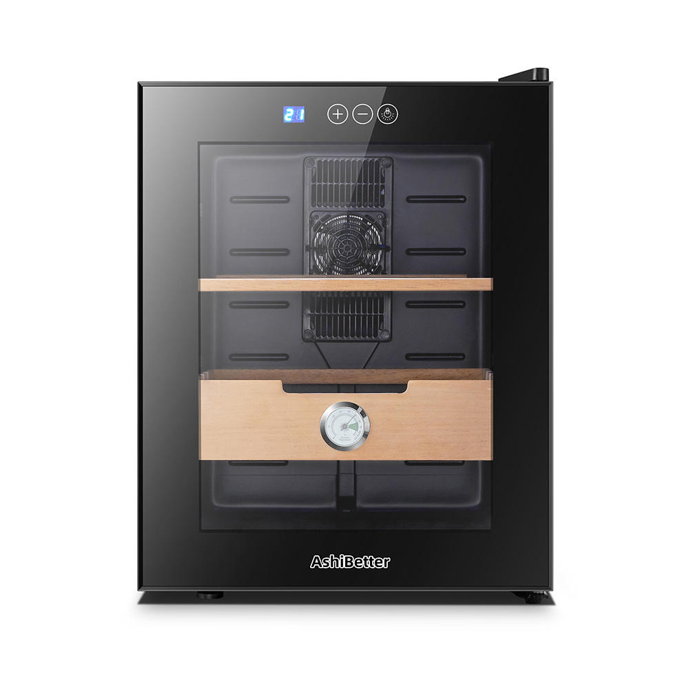 AshiBetter Automatic Humidity Control Thermoelectric Electronic Cigar Humidor For Cigars