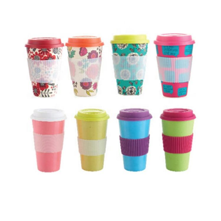 Custom colors bamboo fiber Ice cream cup 8 oz disposable paper coffee cup