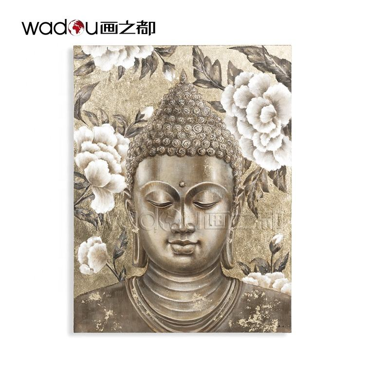 Bedroom Office Buddha Wall Art Home Decor Oil Painting Canvas Art Oil painting Handmade