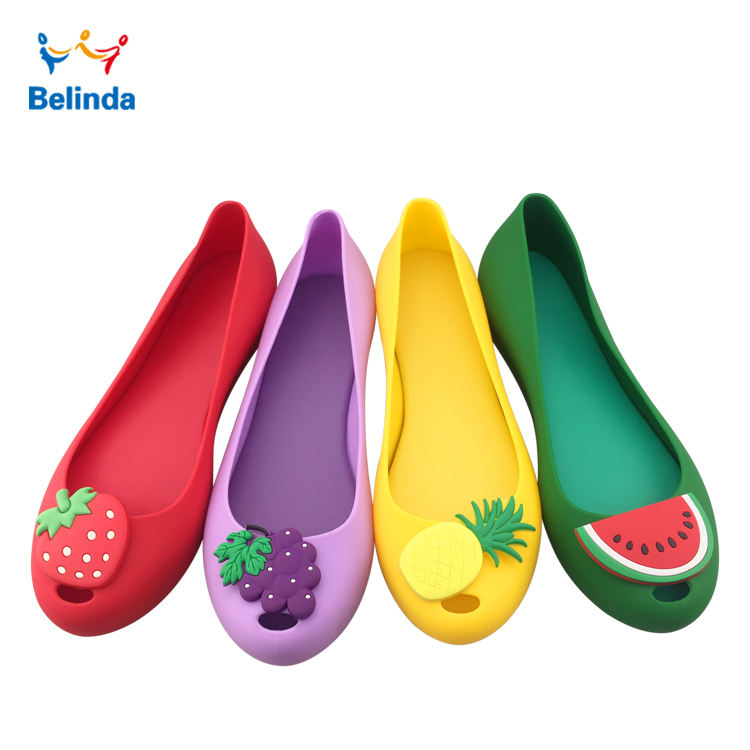 Ladies Flat PVC Fruit Sandals New Fashion Women Summer Jelly Shoes