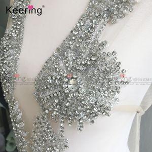Keering special design deep V shape wedding dress applique WDP-112
