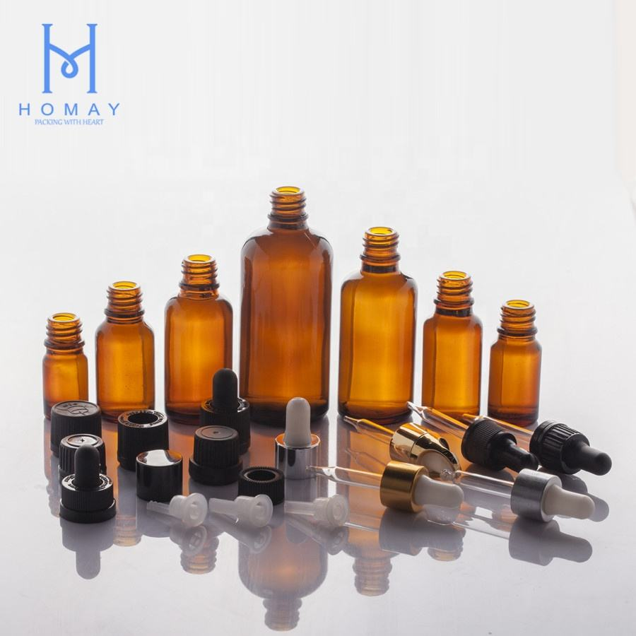 Accepted Customization Hot Sale Cosmetic Glass Packaging Dropper Bottle For Essential Oil And Skin Cream