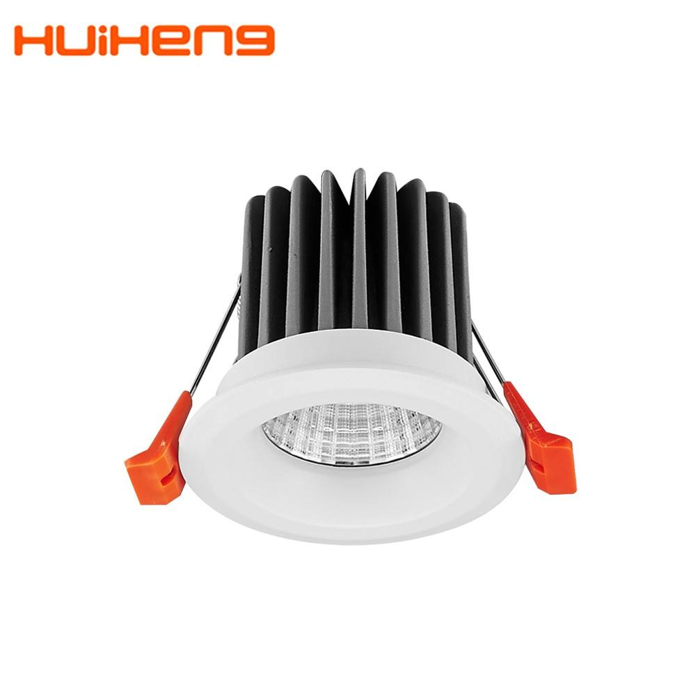 HH1 Down Light Round Housing Dimmable Cct Adjustable IP65 5w 9w 3w 7w 10w 12w 15w Cob Recessed Led Downlight