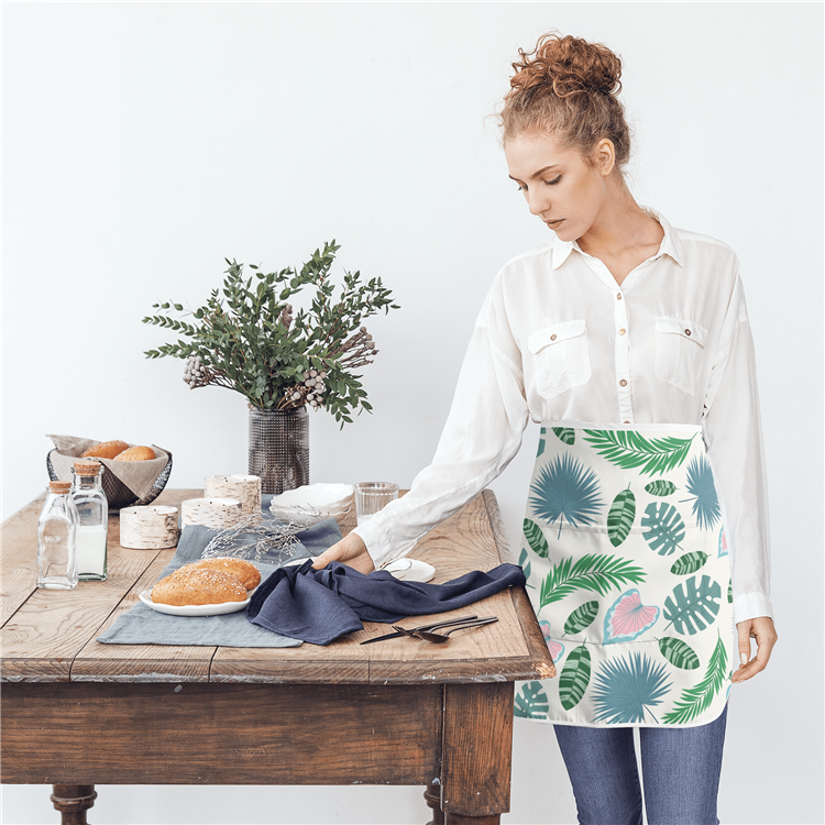 Wholesale Painting Custom Logo Kitchen adult Apron Adjustable Kitchen Bib Apron polyester washable apron