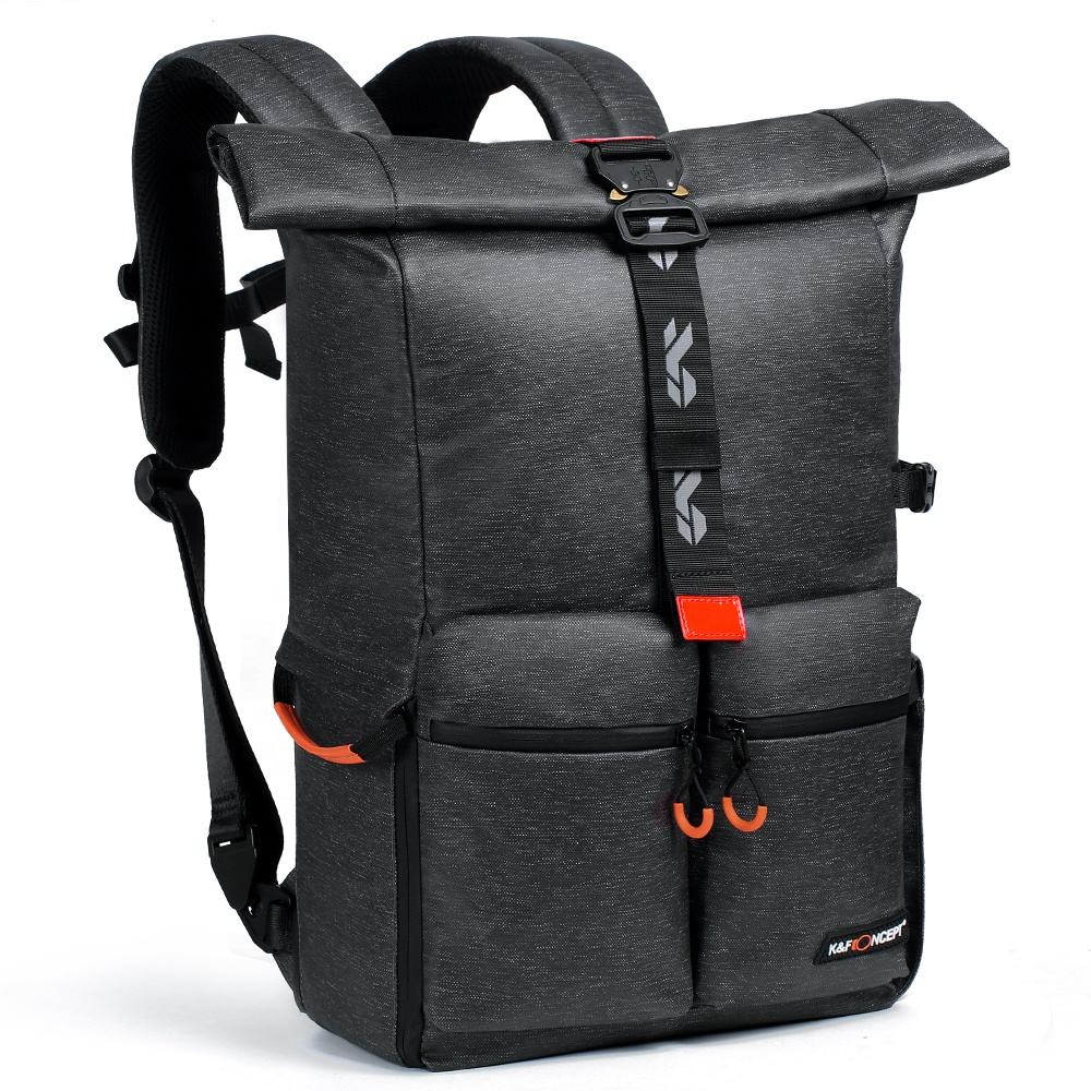 K&F Concept Camera Backpack Lens and Accessories hold 1 DSLR camera + 2 lens digital camera bag