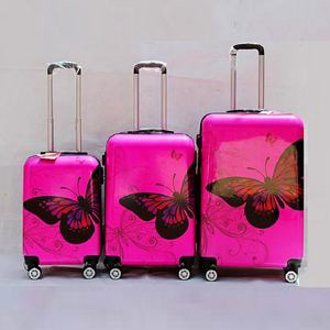 Classic Butterfly PC Print Hard Shell Light weight Large Capacity travel suitcase trolley Luggage