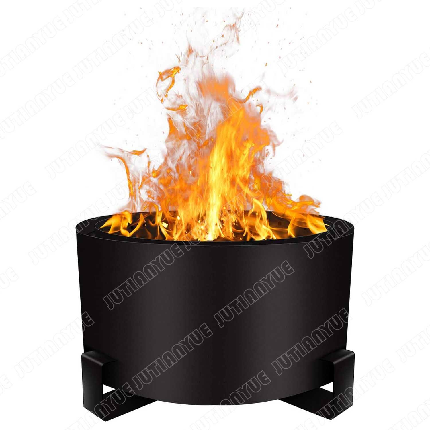 Patio Vuurkorf Bonfire Pit Grote 23.6 Inch Hout Pellet Vuurkorf <span class=keywords><strong>Outdoor</strong></span> Rookloze Firepit Houtgestookte Lage Rook Draagbare firepi