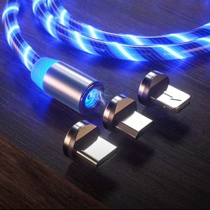 Magnetic Cable LED Glow Flowing Magnetic Fast magnetic usb charging cable