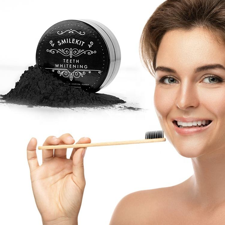 30g Peroxide Free Safe Effective Bleaching Tooth Black Carbon Charcoal Teeth Whitening Powder