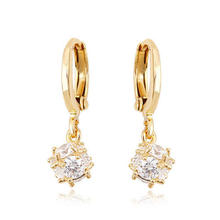 90072 Xuping 18K gold earrings, high quality hoop earring, 18K Gold Plated fashion earrings for women