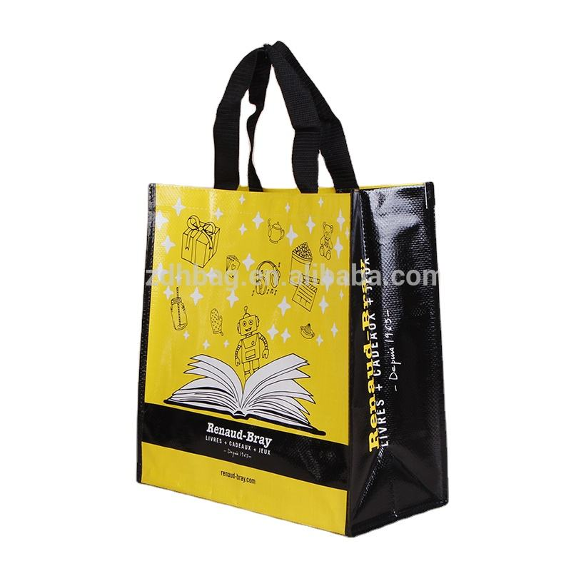 China custom design high quality lamination shopping tote pp woven bags