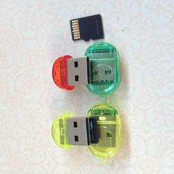 2.0 TF Nano Mini SD   Memory Card Reader Writer USB Flash Dr